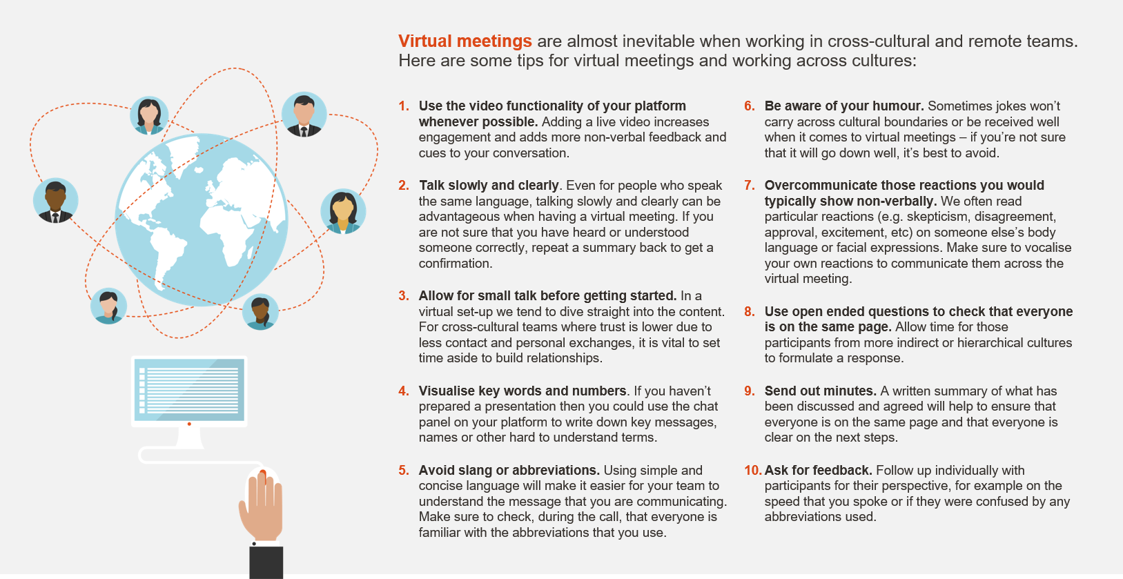 Virtual meetings graphic